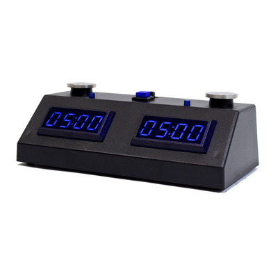 ZMF-II Digital Chess Timer Black with Blue LED