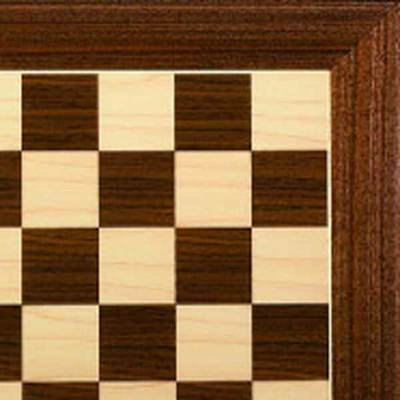 Master Hardwood Chessboard with Brass Corners
