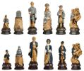 American Civil War Hand Decorated Chess Pieces by Studio Anne Carlton