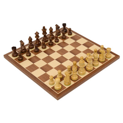 French Staunton Compact Wood Chess Set