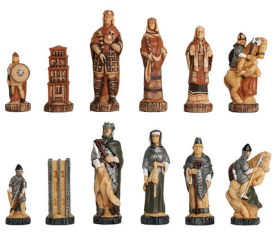 Battle Of Hastings Hand Decorated Chess Pieces by Studio Anne Carlton