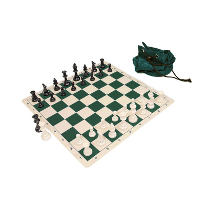 Weighted Club Silicone Board Chess Set Combo