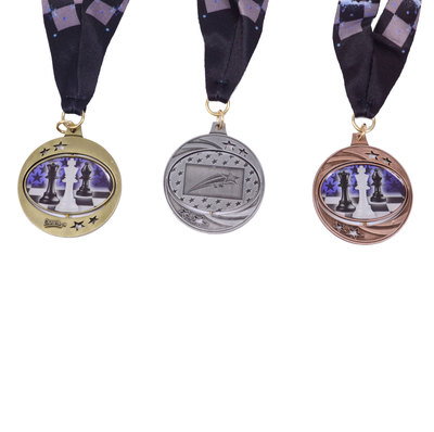 Spinzer Chess Medal with Sateen Ribbon